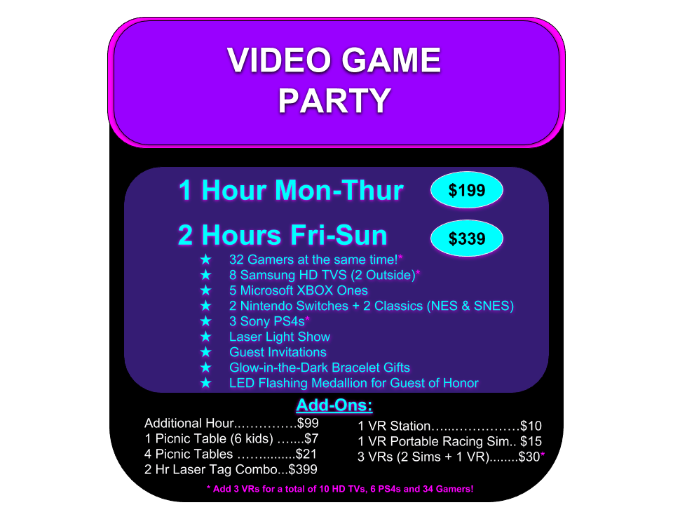 Want The Ultimate Minnesota Birthday Party Book A COMBO And Enjoy Video Gaming Laser Tag Fun Dont Waitour Dates Times Up Fast