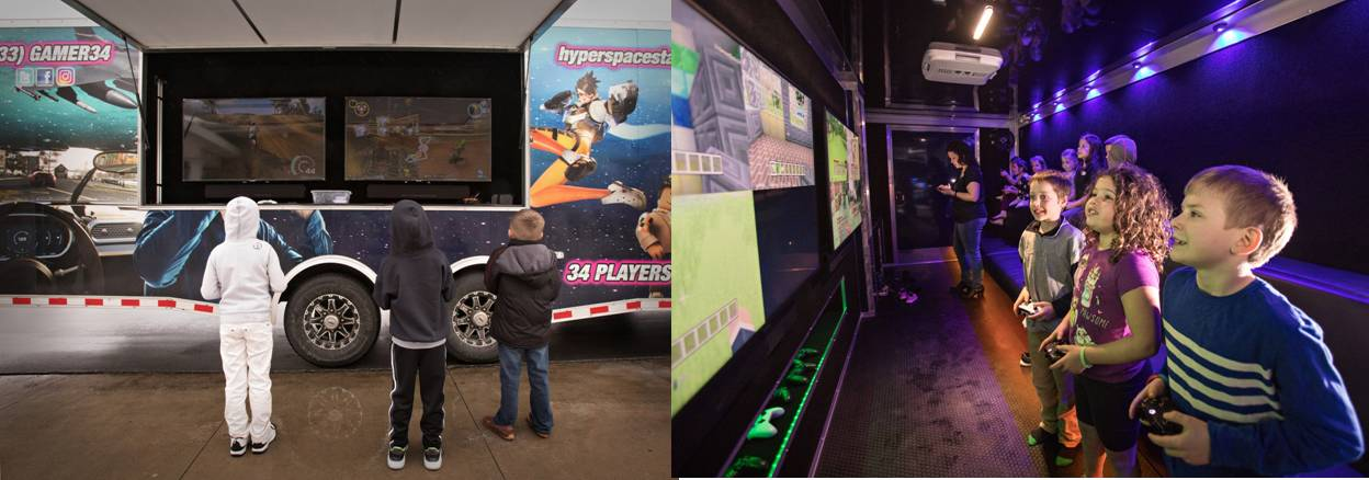 birthday party | arcade on wheels | virtual reality | laser tag