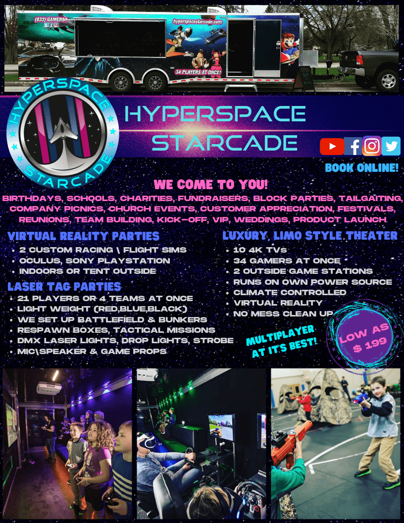 game truck | laser tag | vr | hyperspace starcade